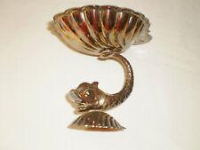 CUTAJAR WORKS MALTA Vintage Metal Fish Shell Ornament Trinkets Dish