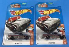 Lot of 2 Hot Wheels '67 CHEVY C10 Trucks in Zamac Edition, Walmart, Soft Corners