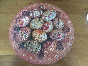 1977 Ukrainian Folk Art Springbok Circular Puzzle Eggs Hallmark 500+ Pc Complete