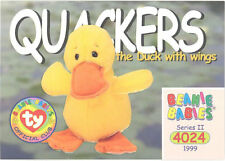 Ty Beanie Babies Bboc Card - Series 2 Common - Quackers the Duck (w/Wings) -Nm/M