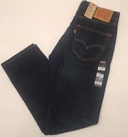 NWT Levi's 511 Men's Slim Fit Stretch Dark Blue Jeans Faded