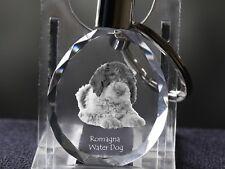 Lagotto Romagnolo, Llavero redondo de cristal con perro, Crystal Animals ES