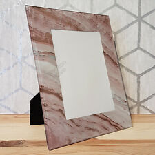 Pink & Rose Gold 5x7 Photo Frame New Modern Marble Glass Picture Home Decor Gift
