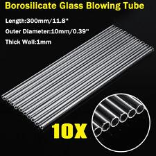 10Pcs Glass Blowing Tube Wall Borosilicate Transparent