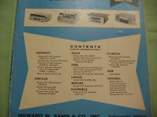 SAMS AUTO RADIO MANUAL(AR 60 FIRST EDITION PRINTING-MARCH 1969 AND EXTRA