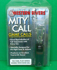 New Western Rivers Mity Call Fowl Play Double Reed Duck Call - Black Acrylic