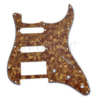Pearloid Electric Guitar Pickguard For Fender Strat Style,SSH 3Ply-Cinnamon