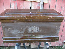 Antique Handmade Carpenters Machinists Solid Wood Chest Trunk Tool Box