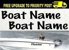 Custom Boat Names Marine Vinyl Cut Decals 600mm