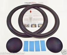"DLK Model 3 - 12"" Woofer Refoam Kit - Speaker Foam Repair w/ Shims & Dust Caps!"