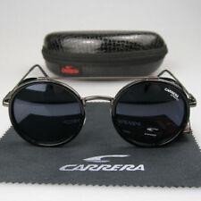 Мужские женские ретро круглые солнцезащитные очки ветрозащитная матовая рамка металл Carrera очки