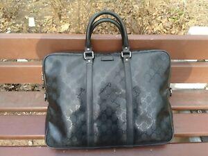 100% Authentic GUCCI GD Supreme Briefcase Laptop Bag