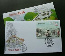 Malaysia Stamp Week Lifestyle 2018 Postman Hobby Motorcycle (FDC) *limited *Rare