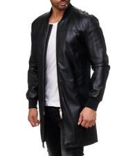 Manteaux et vestes noirs en cuir, taille L pour homme