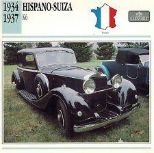 "HISPANO-SUIZA 1934-1937  ""K6""  ADVERTISING BROCHURE"