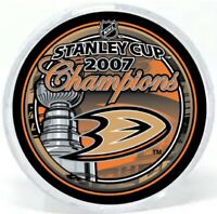 Anaheim Ducks 2007 Stanley Cup Finals Champions Hockey Puck (in Display Tube)