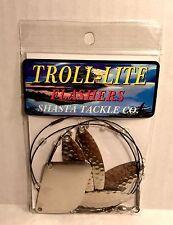 Shasta Tackle Troll- Lite Flashers Willow Leaf Hammered Nickel Fish Trolling Rig