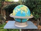 """CRAMS 12"""" World Globe w/ Stand Base Airliner Speed Atomic Styling"""