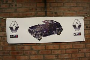 Renault 5 GT Turbo wrc heavy duty large pvc  WORK SHOP BANNER garage  SHOW
