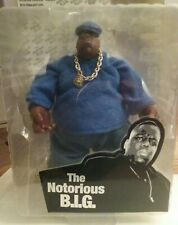 THE NOTORIOUS B.I.G. ACTION FIGURE NEW MEZCO BLUE WITH MIC.
