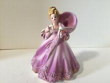 Vintage Josef Porcelain Colonial Days Lady Figurine Planter