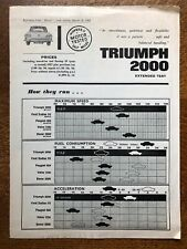 TRIUMPH 2000 Road Test Reprint from 'Motor' Magazine, March 14 1964