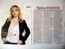 COUPURE DE PRESSE-CLIPPING : Sylvie TESTUD  [2pages] 2015