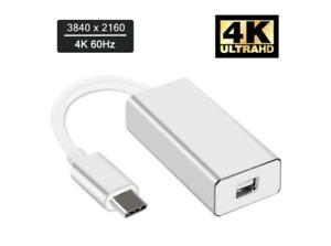 USB 3.1 Type C to Mini Display Port DP 4K Video Adapter Cable for iMacs/Mac Mini