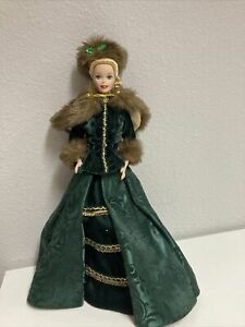1996 Holiday Caroler Barbie Doll Holiday Porcelain Collection Limited Edition