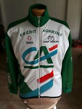 Veste hiver  cycliste CREDIT AGRICOLE Nalini LOOK Giacca Jacket  TAILLE 3  T.B.E