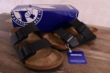 Birkenstock Arizona Birko-Flor Sandals Women's 8 Med Men's 6 Cork Shoes Black 39