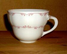 Oskar Schaller & Co  Bavaria 1 Kaffeetasse, Weiß mit rosa Dekor