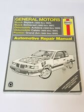 Haynes General Motors 1985-95 38025 Repair Manual Skylark Grand Am Calais Somer
