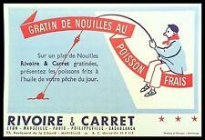 Buvard Publicitaire, RIVOIRE & CARRET - Gratin de nouilles au poisson frais