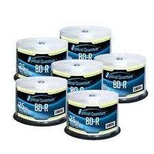 300 Optical Quantum 6x 25GB Blue Blu-ray BD-R Logo Top Blank Disc OQBDR06LT-50