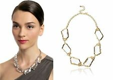 KENNETH JAY LANE CHUNKY CRYSTAL COLLAR NECKLACE GOLD TONE GEOMETRIC RARE $525