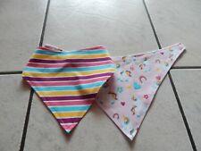 Schals & Tücher Bandanas Aus Jersey Grau Mit Rehe Und Uni Pink Dreieckstücher