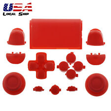 Solid Red Full Set Buttons Kits Dpad Replacement Parts for Sony PS4 Controller