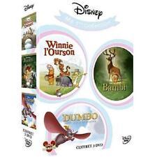 DISNEY Coffret DVD Winnie l'ourson n°102 + Bambi n°5 +  Dumbo n° 4 NEUF