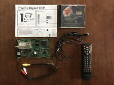 Creative Labs, Video Blaster, CT5831, PCI TV Tuner and Digital VCR card, 2000