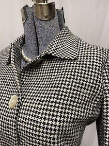 Lauren Ralph Lauren Black & White Houndstooth Linen Blazer Suit Jacket Size 6