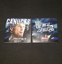 2016/17 VANCOUVER CANUCKS PROGRAM VS EDMONTON OILERS HENRIK SEDIN COVER