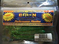"B Fish N, 4"" RINGWORM,12/pk,Chartreuse Pepper, RW-116,BFishN"