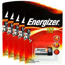 5 x Energizer Lithium CR123 batteries 3V 123A CR17345 EL123 Photo Camera EXP2026