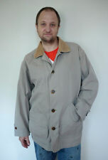 Lands End Cotton Canvas Corduroy Barn Field Work Jacket Coat M 32-34 Grey Mens