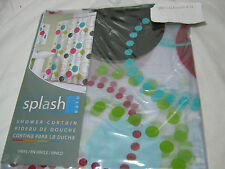 New Splash Bath Vinyl Shower Curtain ATOM Circles/Rounds Red Blue Green 70x72