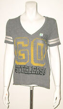 JUNK FOOD PITTSBURGH STEELERS GRAY GOLD YELLOW T-SHIRT SIZE XS NEW WITHOUT TAGS