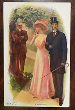 A SACRIFICE Romantic BASEBALL Artist Signed Dewey 1911