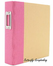 """Pink & Craft 6"""" x 8"""" inch Scrapbooking Binder Snap Studio by Simple Stories NEW"""
