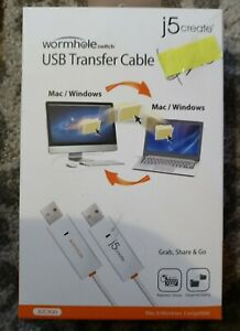 j5create JUC400 Wormhole Switch USB Transfer Cable For Mac and Windows